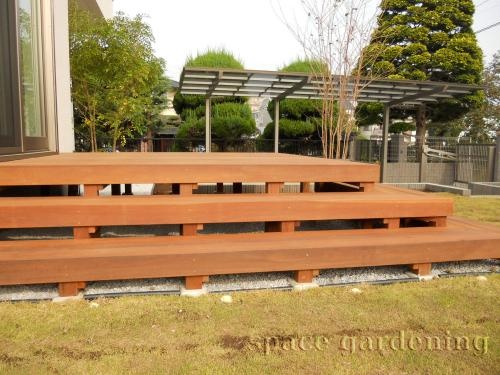 ウッドデッキ ステップ 木製 アイアンウッド