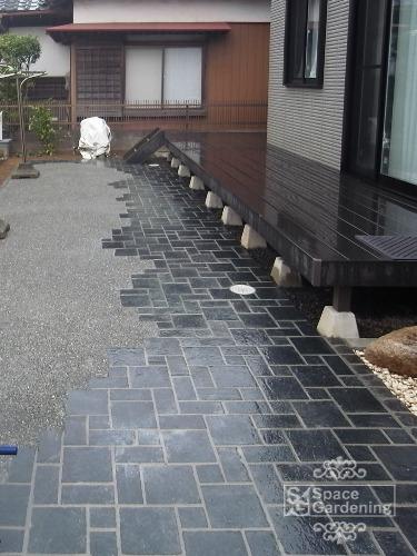アプローチ 石貼り 桂林 方形