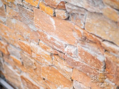 天然石 ユニソン パイルストーン乱形 ラスティックブラウン