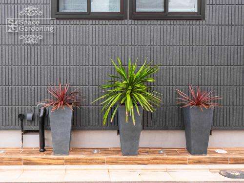 プランター コンテナ— タカショー アレグロ350角 植栽 木目調タイル貼り 名古屋モザイク ラスティックウッズ