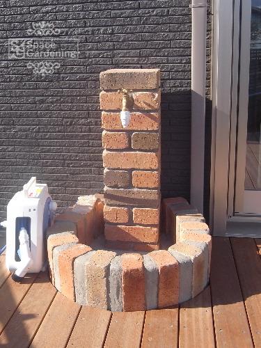 立水栓 レンガ積