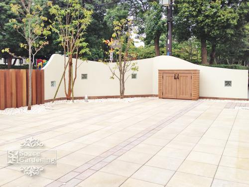 庭 テラス コンクリート平板