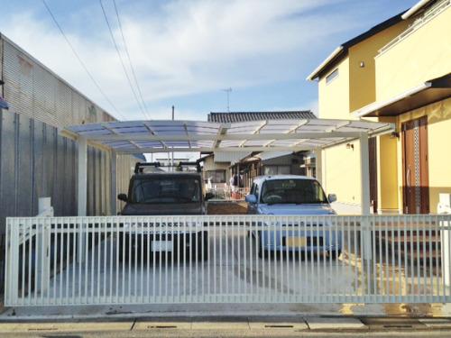車庫 カーポート LIXIL TOEX キューブポートワイド 車庫扉 ワイドオーバードアS2型