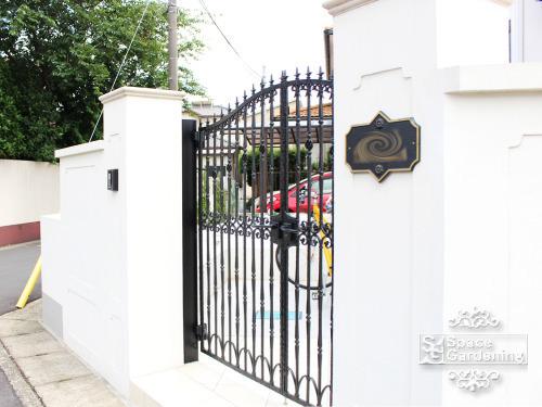 門柱 塗り壁 笠木 PCキャップ