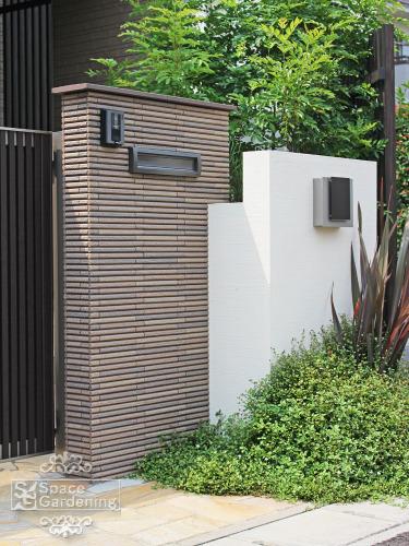 門柱 タイル INAX 細割りボーダー 陶笠木