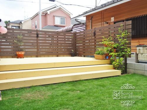 庭 ウッドデッキ 樹脂 LIXIL TOEX 樹ら楽(きらら)ステージ