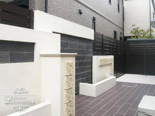 シンプルリフォーム庭 目隠し 壁デザイン