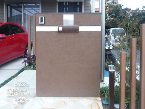 門柱 塗装