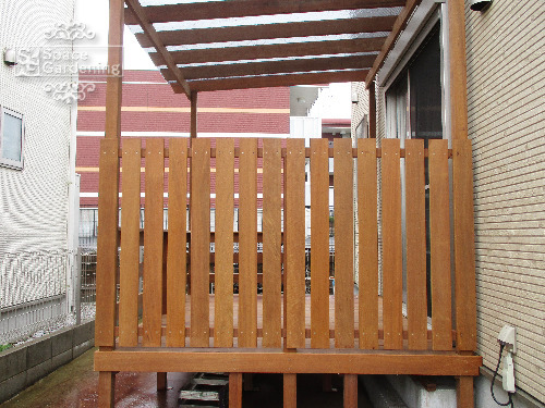 ウッドフェンス 木製 アイアンウッド