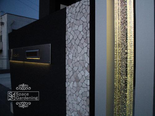 ライトアップ 角柱 ガラス インゴット