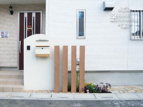 門柱 塗装 角柱 LIXIL デザイナーズパーツ