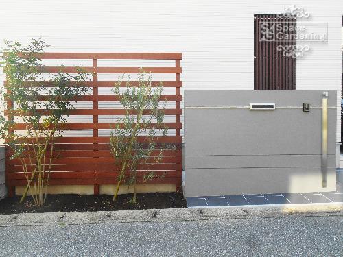 門袖 塗装 門柱 目隠しフェンス