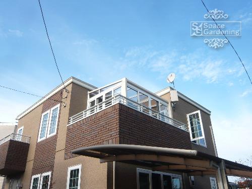 施工例画像:埼玉県春日部市 リフォーム庭工事 シンプル サンルーム バルコニー