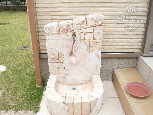 立水栓 モルタル造形