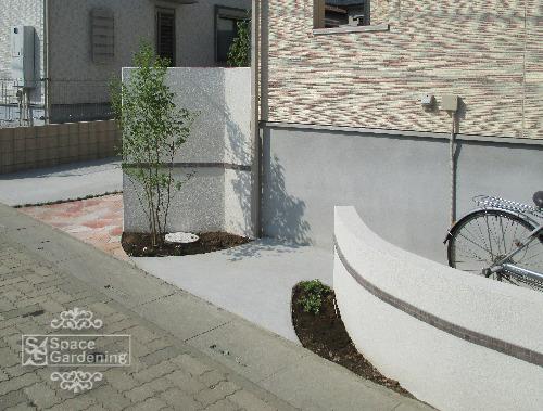 飾り壁 塗装 シンボルツリー
