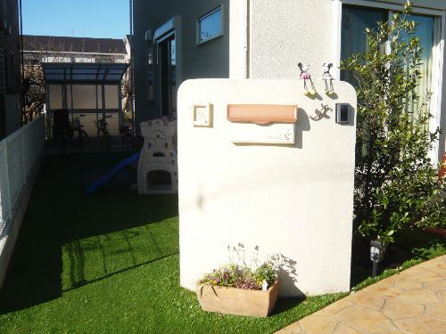門袖 塗装 門柱