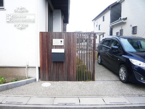 門柱 天然木材 ウリン材