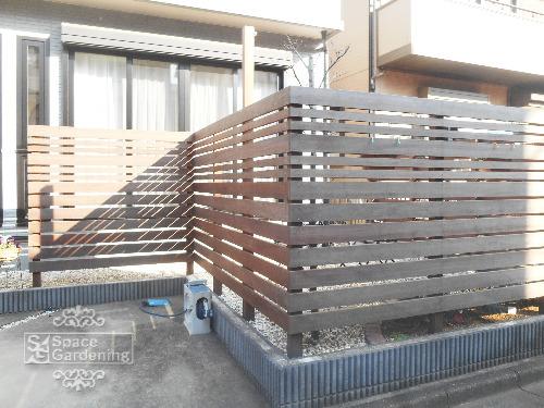 フェンス 天然木材 アイアンウッド 1年後