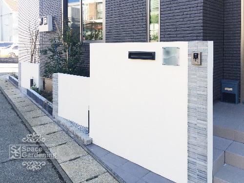 門柱 塗装 ボーダータイル