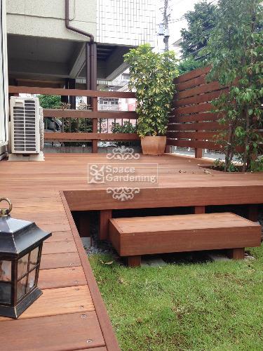 庭 ウッドデッキ 天然木材 ウリン材