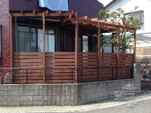 テラス屋根 木製 ウリン材