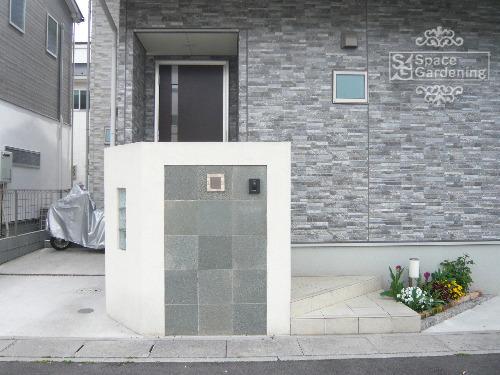 門柱 塗装 石貼り TOYO スクエアストーン プレート