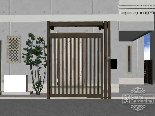 東京都葛飾区 玄関前 目隠し デザイン