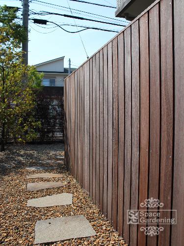 木製フェンス 高級天然木 ウリン材