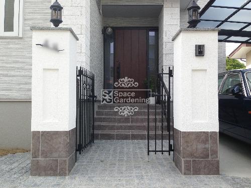 門柱 塗装 タイル