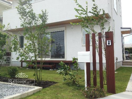 門柱 木製 高級天然木 ウリン材