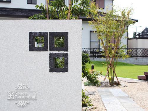 飾り壁 塗装 空洞ブロック TOYO スルーフブロック