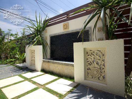 壁泉 塗装 タイル 飾り壁
