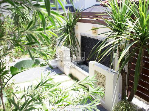 壁泉 塗装 タイル