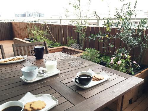 バルコニー カフェ