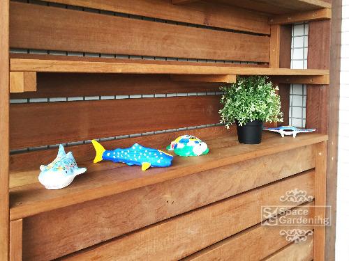 飾り棚 高級天然木材 ウリン材