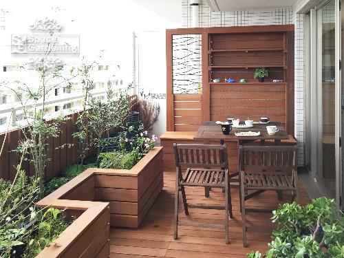 バルコニー ウッドデッキ 高級天然木材 ウリン材