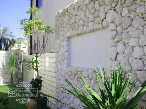 庭 壁 オーシャンストーン