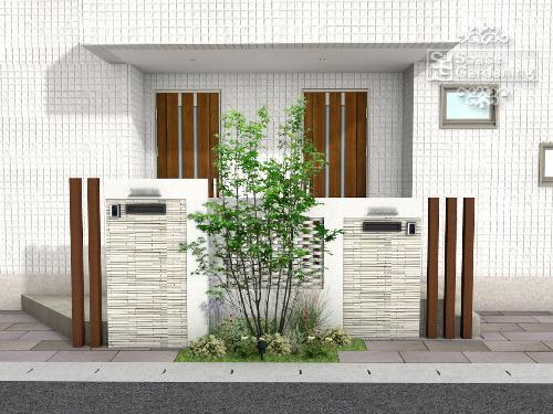 オープン外構 デザイン 二世帯住宅
