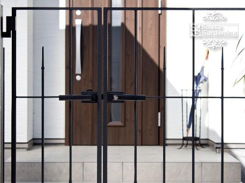 鋳物門扉 LIXIL ラフィーネ門扉3型