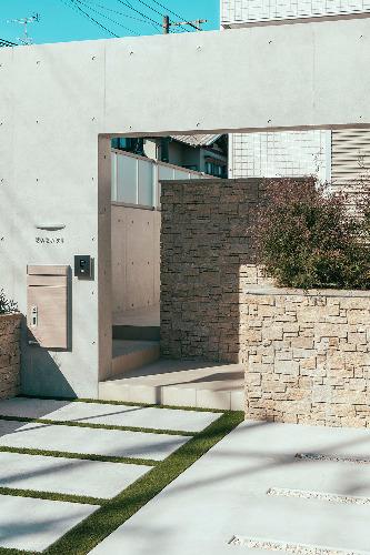 壁 天然石貼り ユニソン パイルストーン