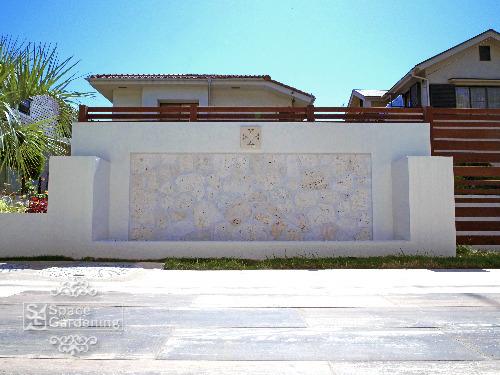飾り壁 目隠し塀 バリ風 琉球石灰岩