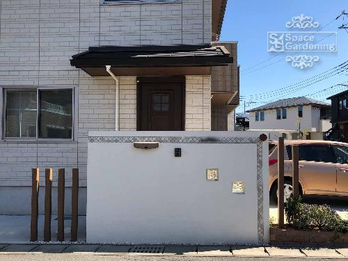 門柱 塗装 タイル 名古屋モザイク コラベル