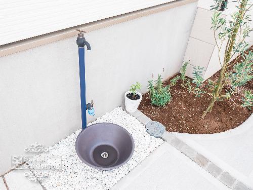 水栓 OnlyOne エポカW 水受け 金彩水鉢