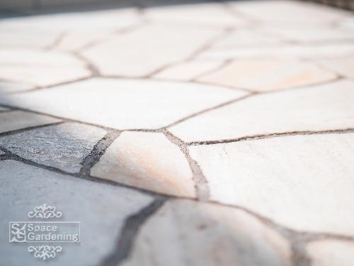 自然石乱形 クォーツサイト ホワイト
